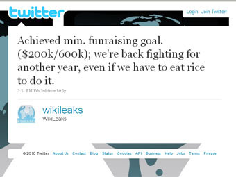 Wikileaks has found money for work continuation