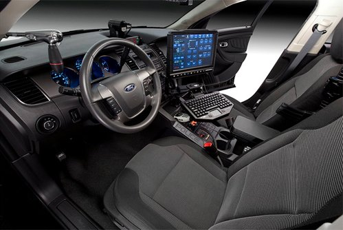 Interior new police car