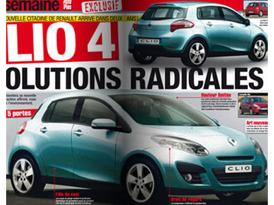There were first images new Renault Clio