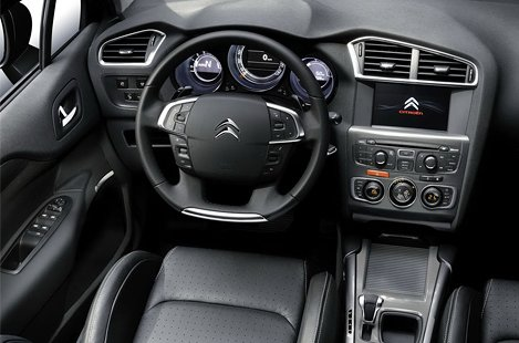 Interior of Citroen C4