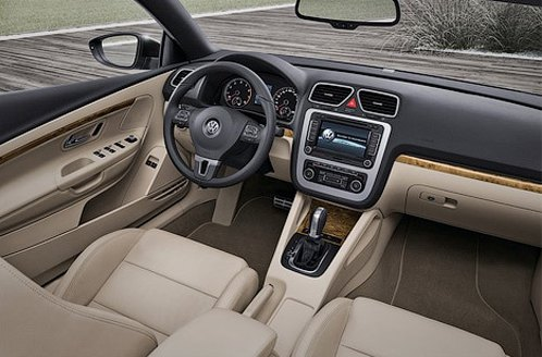 Interior of Volkswagen Eos