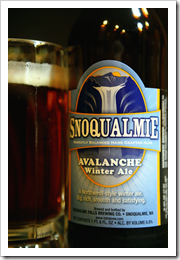 Snoqualmie Falls Avalanche Winter Ale image courtesy of Just a Beer: a simple beer blog