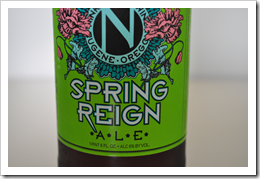 image of Ninkasi's Spring Reign bottle label courtesy of our Flickr page