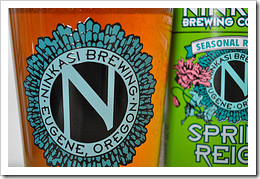 image Ninkasi Brewing Pint & Bottle Logo Side by Side courtesy of our Flickr page