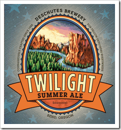 image of the updated Twilight Ale label courtesy of Deschutes Brewery