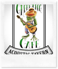 source, The Green Frog Accoustic Cafe's logo