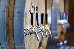 image of the taps at the Cascade Barrel House courtesy of Portlandbeer.org's Flickr page