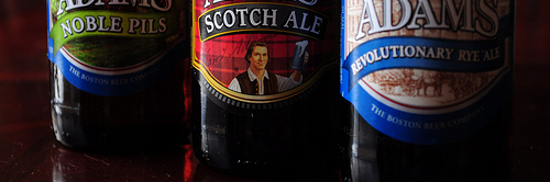 images of Sam Adams' Noble Pils, Scotch Ale, & Revolutionary Rye Ale; courtesy of our Flickr page