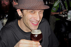 your Whole Foods Roosevelt Square Beer Buyer Joel 'research'ing courtesy of our Flickr page