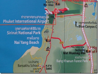 Map North West Phuket, Nai Yang Beach