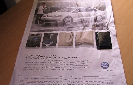 Volkswagen Newspaper Audio Ad
