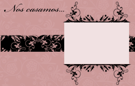 invitacion de boda en color rosa viejo para imprimir