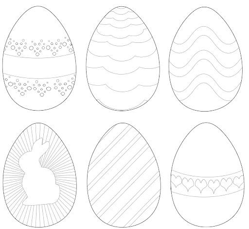 ... para ofrecer unos dibujos de huevos para imprimir y pintar