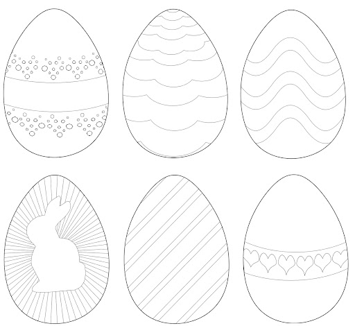 imagenes de huevos de pascua para imprimir y pintar