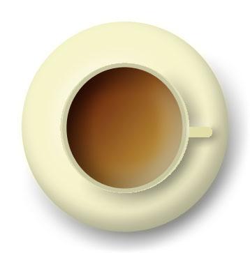 imagen de taza amarilla vista desde arriba