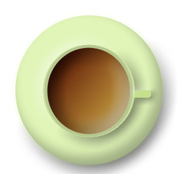 imagen de taza verde vista desde arriba