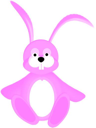 imagen de conejo de color rosa,picture of pink bunny