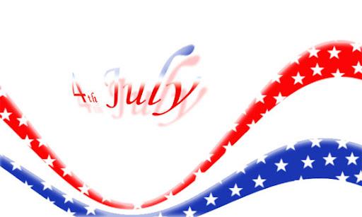 felicitacion para el 4 de julio, 4 july congratulation