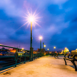 Early Morning Colors by Jay R Vismanos - City,  Street & Park  City Parks ( jrvismanos fotografia, redondo beach pier, night photos, © jrvismanos fotografia, www.jrvismanos.com, strykher, california, redondo beach )