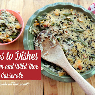 Chicken and Wild Rice Casserole ~Bags To Dishes~