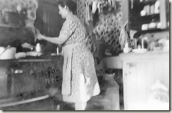 1942-11 Mary Billings in her kitchen
