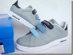 blue velcro sneaks