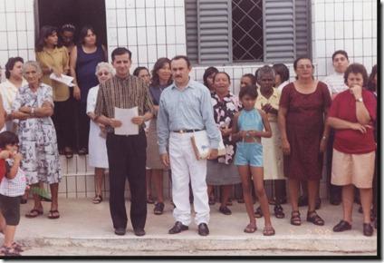 Pe. Leirton e fiéis - 7 FEV 1998