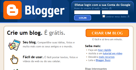 Home do Blogger