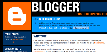 Home do Blogger Brasil