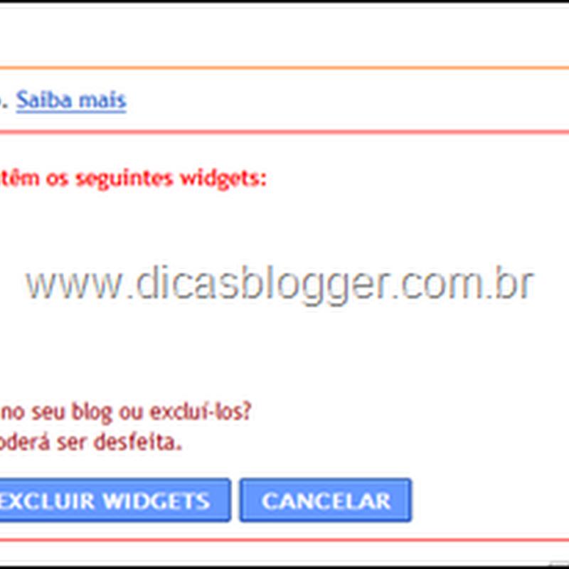 Como salvar widgets automaticamente no Blogger