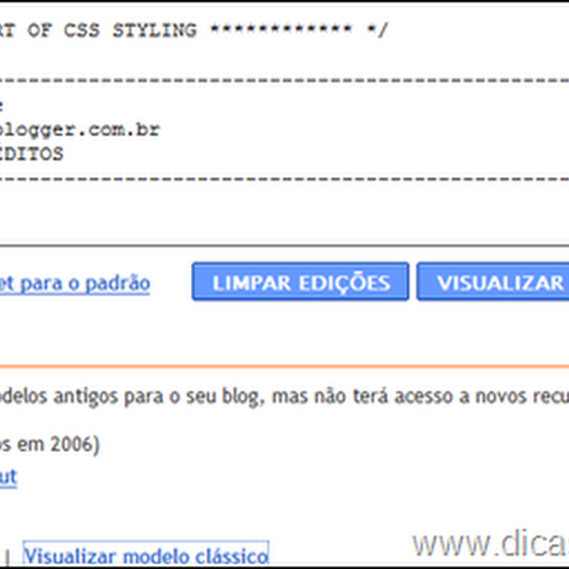 Como voltar a usar os antigos templates do Blogger