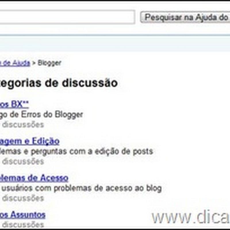 Conheça o Fórum de Ajuda do Blogger