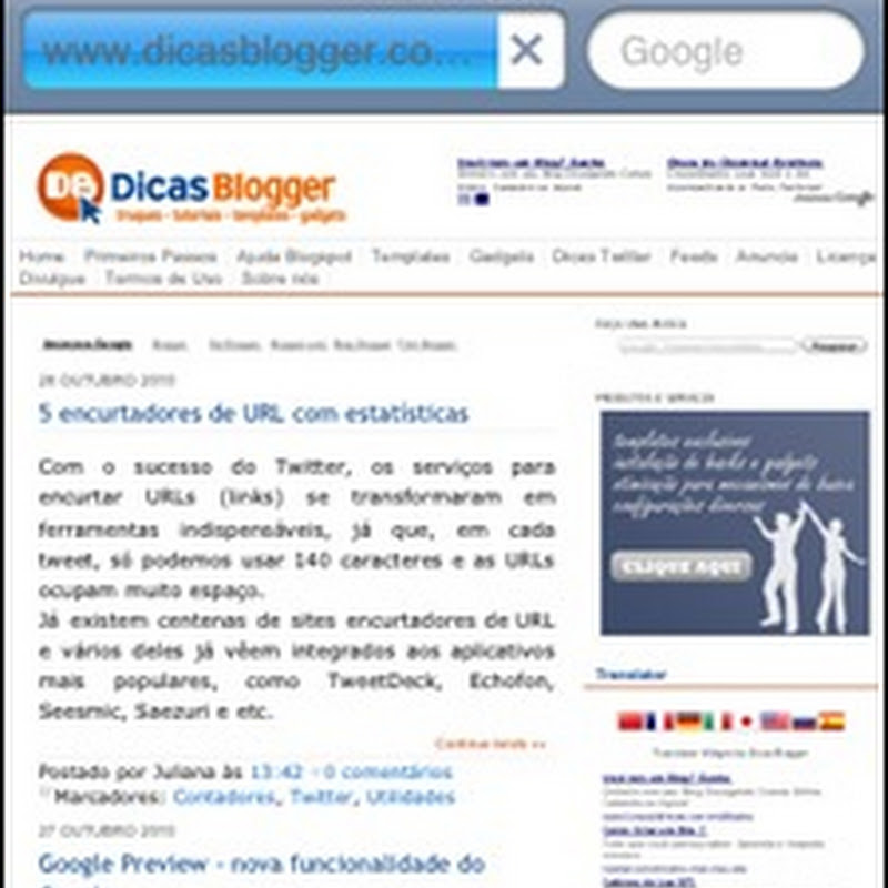 Blogger Touch - seu blog no celular