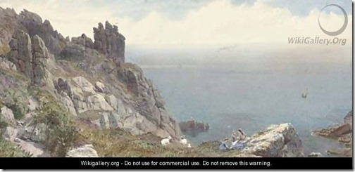 PAINTING Stannus_Sketch-on-the-Cornish-coast Anthony Carey Stannus