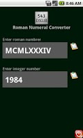 Screenshot of Roman Numeral Converter