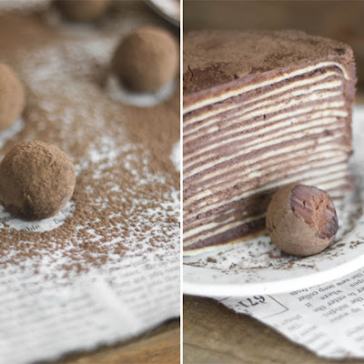 Chocolate Amaretto Crêpe Cake