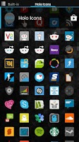 Screenshot of Holo Icons (Nova/Apex/Go/ADW)