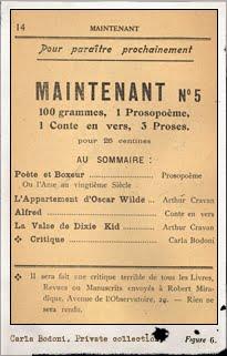 Maintenant, n.4, París marzo-abril 1914. Editada por Arthur Cravan. Pulsar para ver la imagen completa