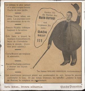 DER dADa. Nº3 (abril 1920). Editada por Raoul Hausmann, John Heartfield y George Grosz. Pulse para ver la imagen completa