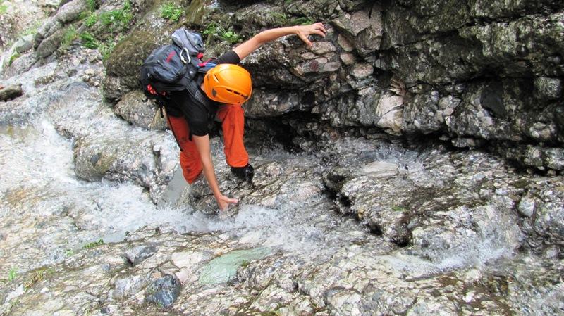 Bucegi - alpinism pe Valea Seaca dintre Clai