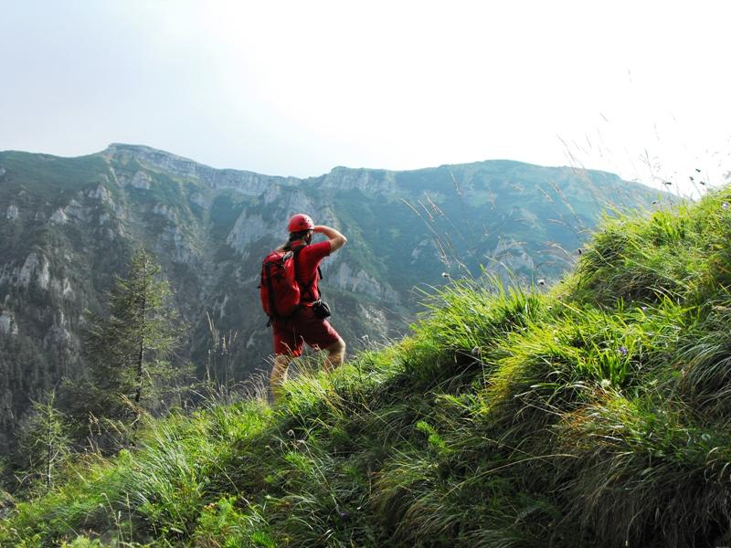 Bucegi -  Brana Portitei - vedere spre Valea Jepilor