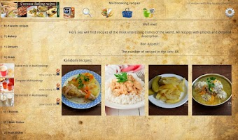 Screenshot of Multicooking recipes