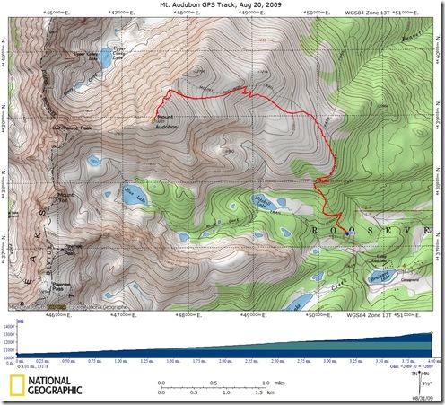 Audubon GPS Track Aug 20, 09
