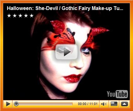 Make Your Own Devil Make Up For Halloween 2012