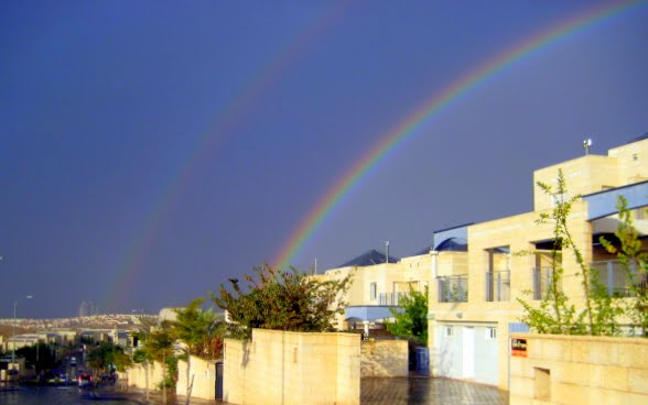 Double Rainbow over Modiin