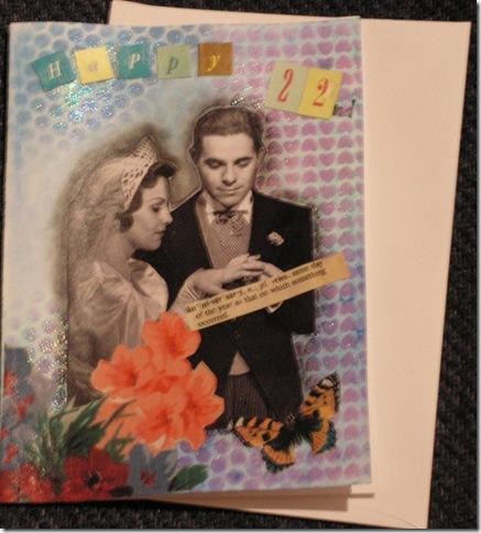 22 anniversary card