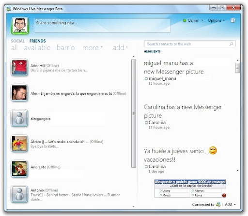 greenshot 2010 03 29 09 07 16 Windows Live Messenger 2010 da sus primeras señales de vida