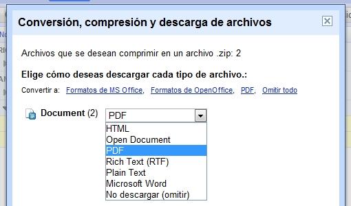 greenshot 2009 10 28 12 56 25 Exportar varios documentos de Google Docs en un mismo formato: te enseñamos a hacerlo en segundos