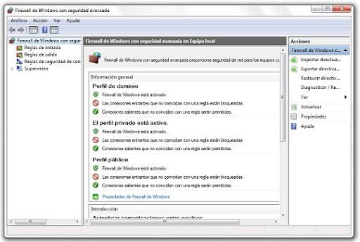 greenshot 2010 07 08 16 42 46 Aprende a gestionar el firewall de Windows 7