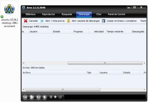 greenshot 2010 09 23 09 44 40 Cómo descargar archivos Bittorrent desde Ares